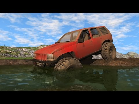JEEP GRAND CHEROKEE TRAIL READY - MUDDING, OFF-ROADING, JUMPS (BeamNG Drive Mods)