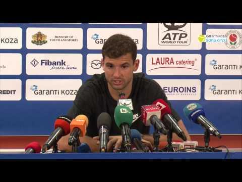 Пресконференция на Григор Димитров след първият си мач