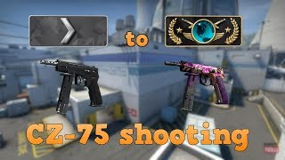 Silver 1 to Global Elite ★ CZ-75 shooting