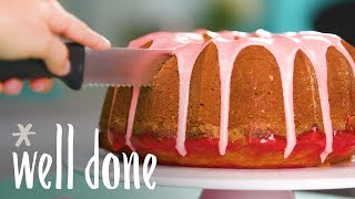 How to Make Strawberry Poke Pound Cake | Recipes | Well Done