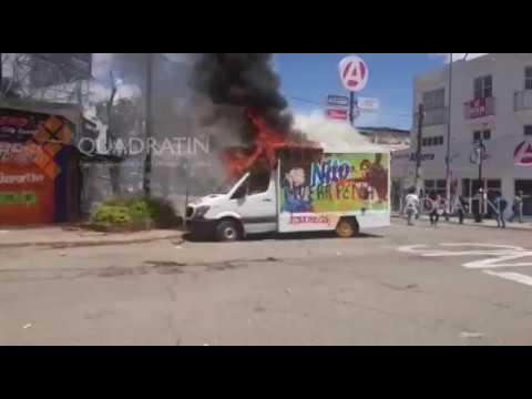 Radicales de la CNTE vandalizan durante visita de Peña en Oaxaca