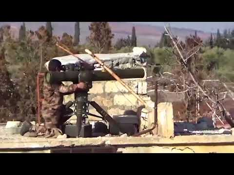 YPG/PKK Terrorists attacking to fake tank of Turkish army in Afrin