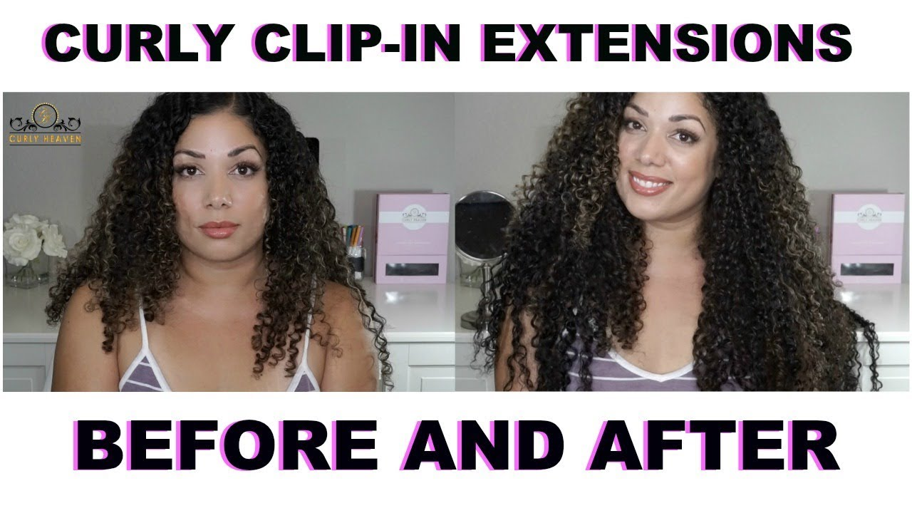 Before After Clip In Hair Extensions Curly Heaven Youtube