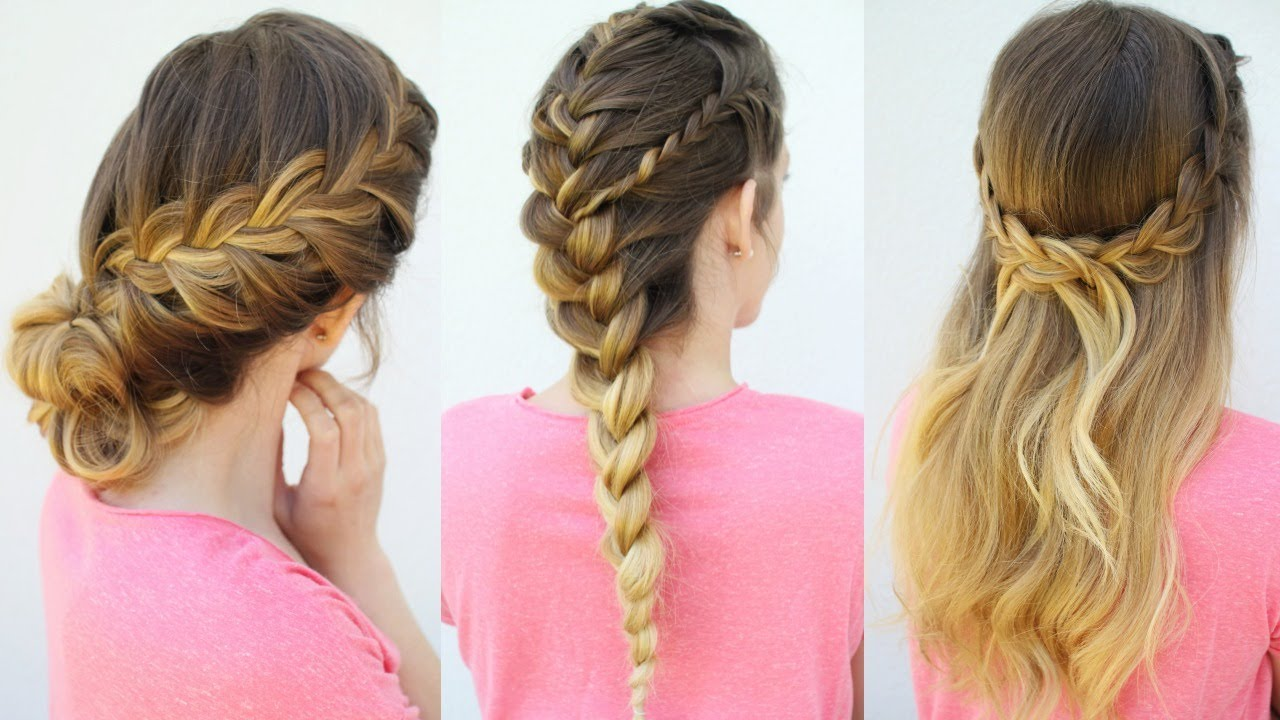 3 French Braid Hairstyles | Back to School Hairstyles ...
