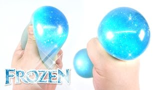 FROZEN Liquid Squishy Ball DIY ! Glitter Stress Ball | MonsterKids