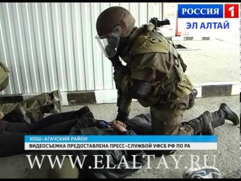 На КПП в Ташанте силовые структуры республики провели учения по обезвреживанию террористов