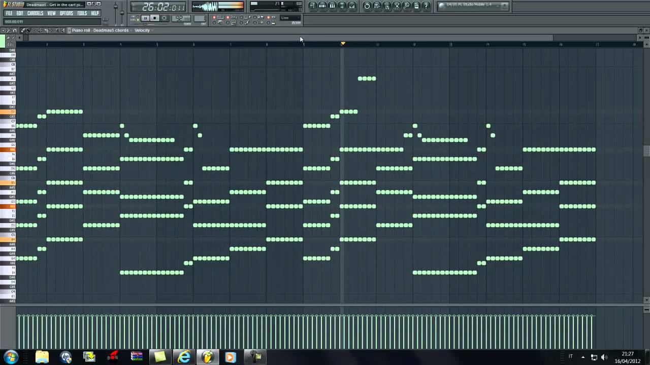 Deadmau5 get in the cart pig fl studio remake youtube for House music midi