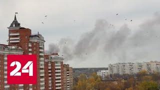 На западе Москвы горит склад - Россия 24