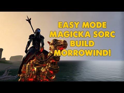 ESO - Easy Mode Magicka Sorcerer PVE Build - (Morrowind Update)