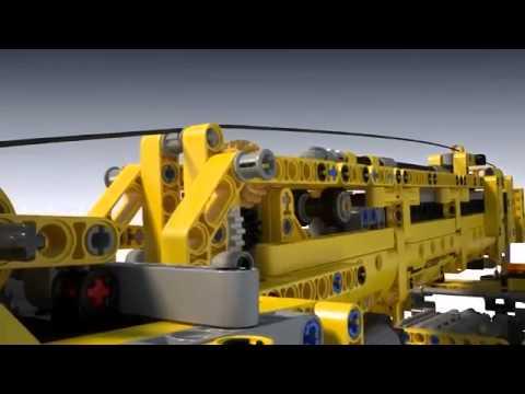 Lego technic grua m vil mk ii 42009 en eurekakids youtube - Piezas lego gigantes ...