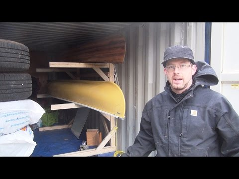 How to build a free standing Canoe Rack