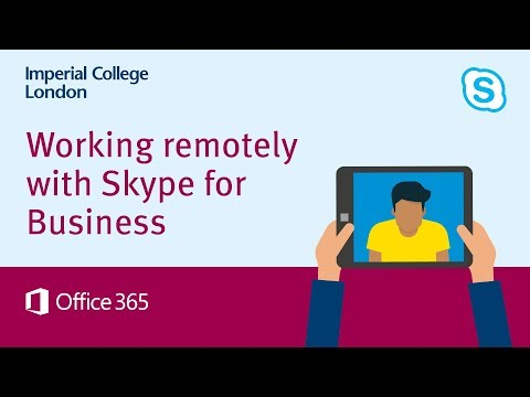 Working remotely with Skype for Business