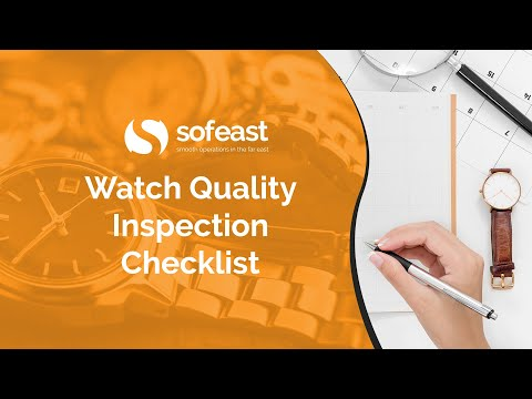 Watch Quality Inspection Checklist - YouTube