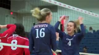 DBU Volleyball Highlights vs. Newman (9/29/18)