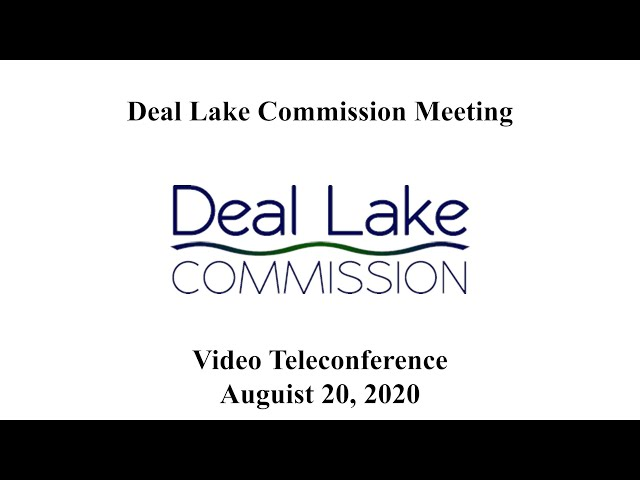 Deal Lake Commission Meeting - August 20, 2020 m4v