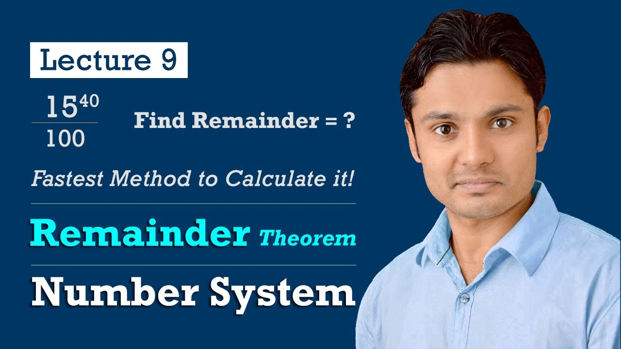 Number System संख्या पद्धति | Remainder Theorem | Lecture - 9 | Harendra Sir