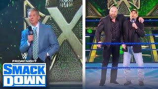 Vince McMahon, Shawn Michaels crash Triple H's 25th Anniversary Celebration | FRIDAY NIGHT SMACKDOWN