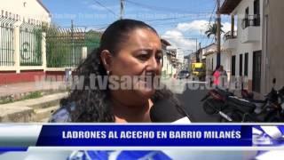 LADRONES AL ACECHO EN BARRIO MILANÉS