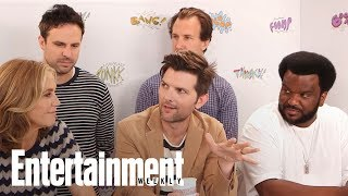 Ghosted: Adam Scott, Craig Robinson - Balancing Laughter & Terror | SDCC 2017 | Entertainment Weekly