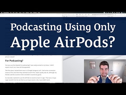 Podcasting Using Only AirPods?