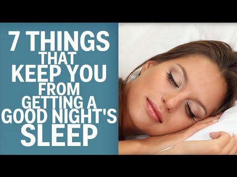 What Keeps You From Getting A Good Night's Sleep