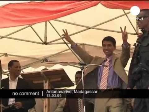 President Andry Rajoelina in Madagascar