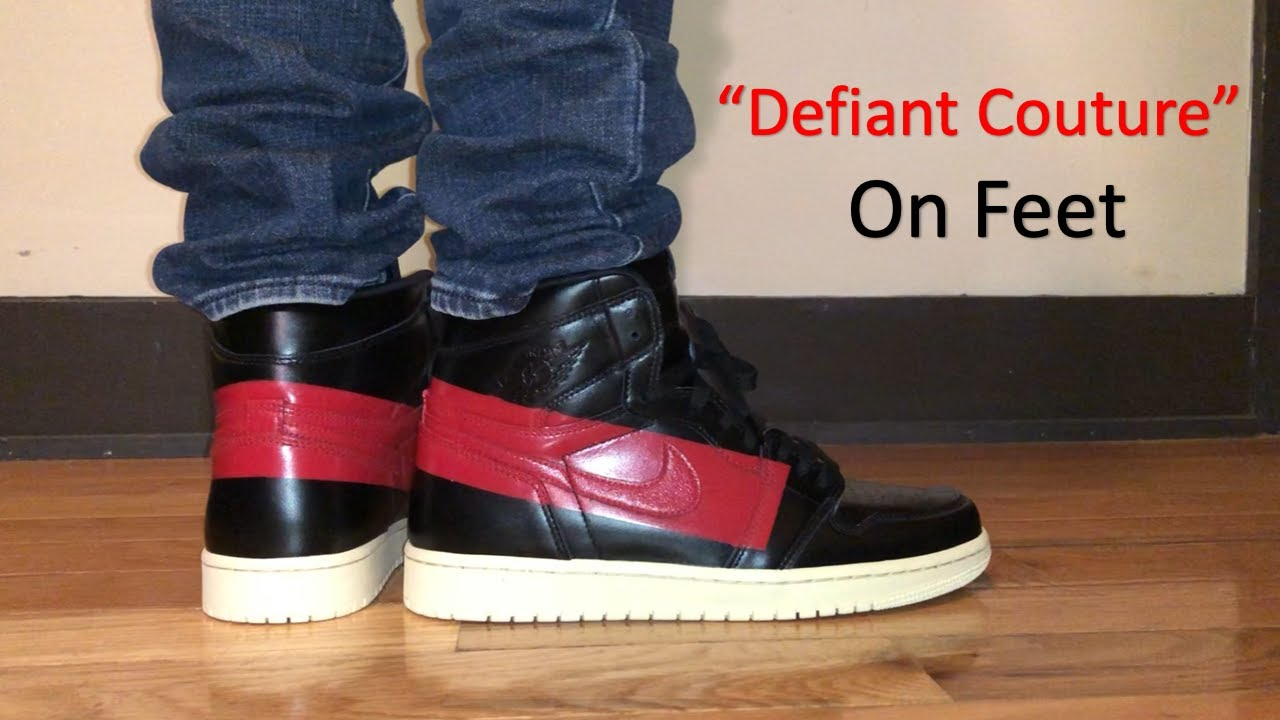 02c382863f613c Air Jordan 1 High OG Defiant Couture On Feet Review - YouTube