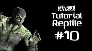 Mortal Kombat 9: Komplete Edition #10 Обучение Reptile [Tutorial][Fatality][PC]