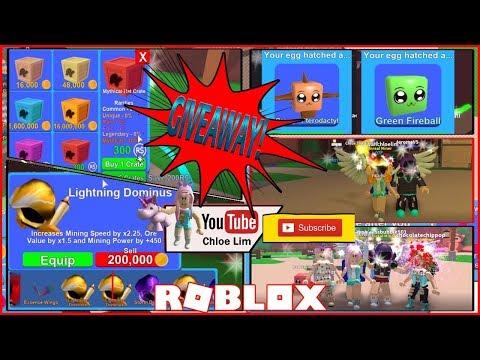 Chloe Tuber Roblox Mining Simulator Gameplay Trading 3