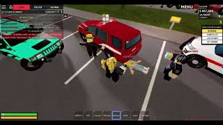 Liberty County: EMS Roleplay as a paramedic on ROBLOX.