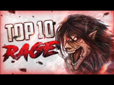 TOP 10 Meilleurs Moments de Rage de MANGA/ANIME
