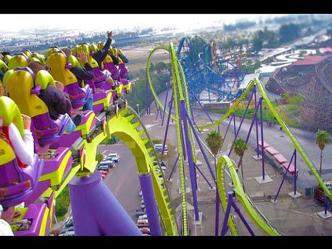 Medusa Roller Coaster (HD POV) Six Flag's Discovery Kingdom Back Seat