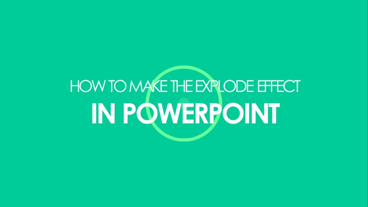 How to make an flat explode circle burst effect in powerpoint how to make an flat explode circle burst effect in powerpoint for intro videos youtube toneelgroepblik Images