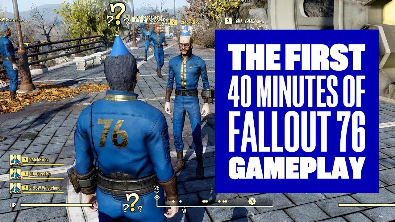 The First 40 Minutes of Fallout 76 - Fallout 76 Gameplay ...