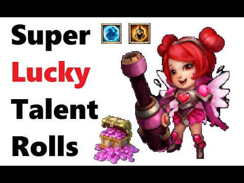 How Much Luck Can We Get?! MUST SEE Amazing Talent Rolls For Heartbreaker Castle Clash Gytis123y