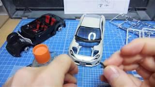 Aoshima 1:24 Toyota '86 pre-paint newbie modelers' plamo build 5
