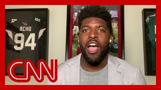 """Former nfl linebacker emmanuel acho talks with cnn's alisyn camerota about his series """"uncomfortable conversations a black man,"""" and one of the ..."""