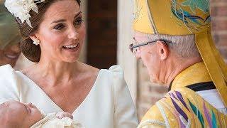 Кейт Миддлтон и принц Уильям крестили принца Луи