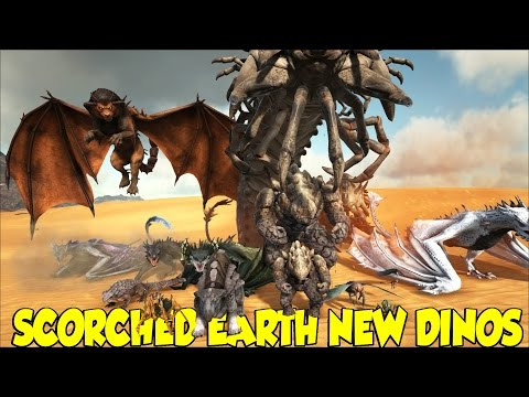 ARK SCORCHED EARTH NEW DINO'S AND WHAT THEY DO