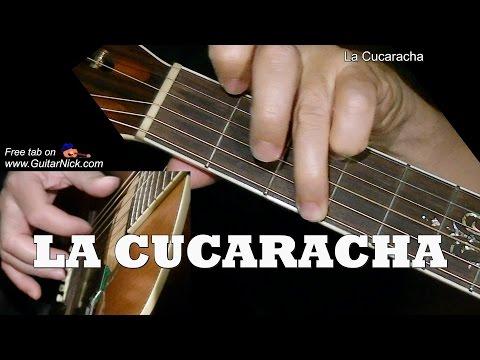 LA CUCARACHA : Fingerpicking Guitar Lesson + TAB by GuitarNick