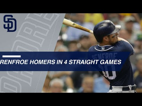 Hunter Renfroe homers in four straight...