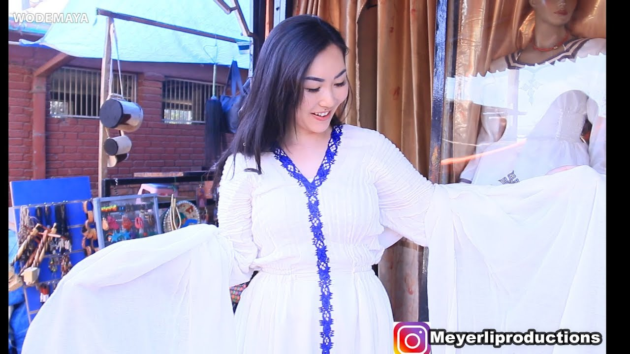 Chinese Girl Wear Ethiopian Traditional Dress For The First Time