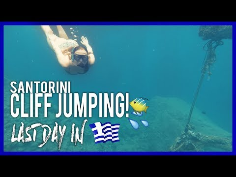 CLIFF JUMPING & SNORKELING IN OIA, SANTORINI! | Greece Ep.10 from YouTube · Duration:  15 minutes 44 seconds