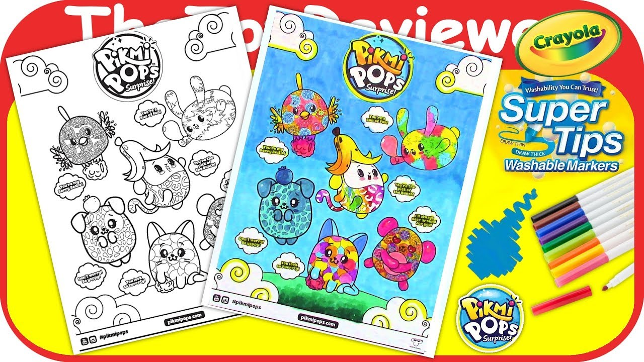 Pikmi Pops Coloring Page Crayola Super Tips Washable Markers ...