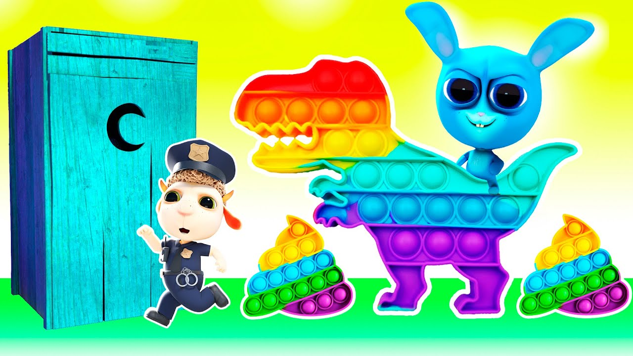 Baby Wash Your Hands! Hot vs Cold Challenge: Rainbow Pop it Baby Dinosaur! Cartoons & Nursery Rhymes