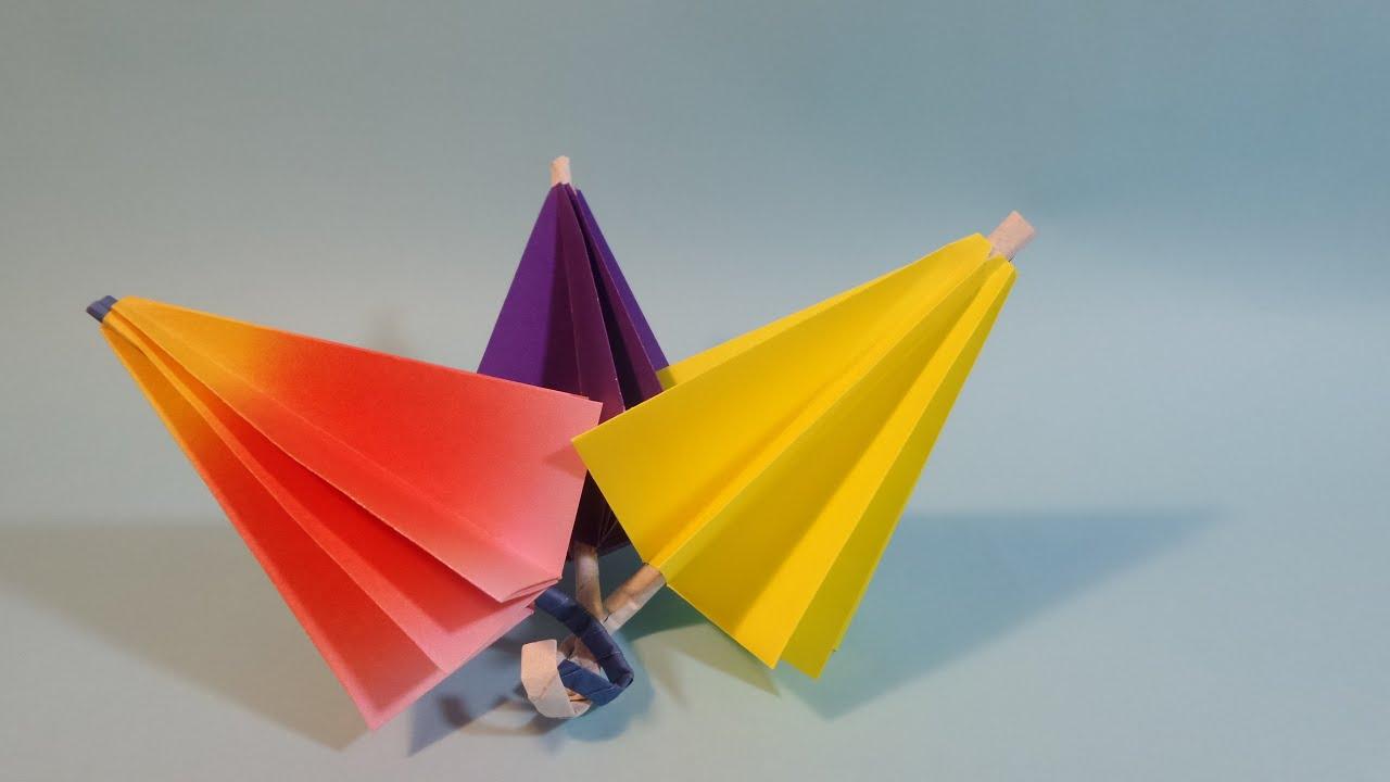 ��� ������� origami confetti umbrella youtube