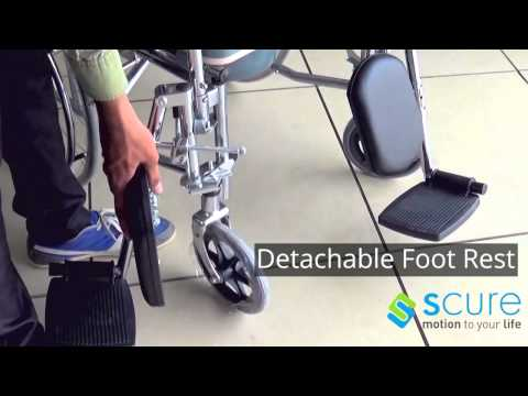 Scure Wheelchair Demo - Commode Wheelchair, Bathroom Transport Wheelchairs