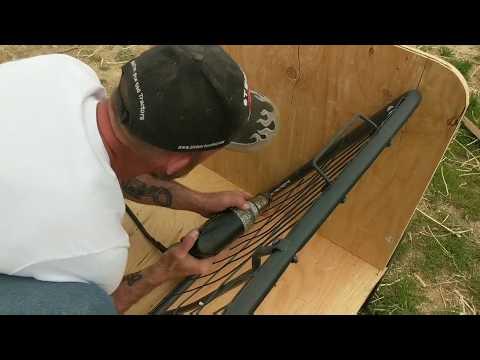 DIY Goat Feeder. How to Turn a Futon into a Goat Hay Feeder