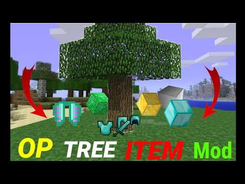 Minecraft But Trees Drop Op Items Download। minecraft but trees drop op items download mcpe   Hindi
