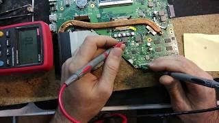 Ремонт ноутбука ASUS X550, отсутствует питание. Типовые проблемы ASUS №3
